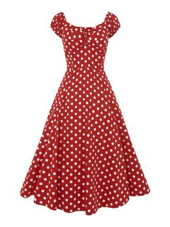 COLLECTIF Dolores Doll Dress Red Polka