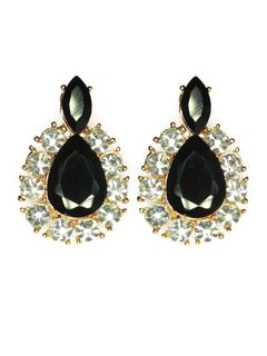 Tear Drop Diamante Earrings