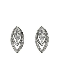 1930's Art Deco Diamante Studs