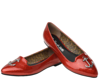 T.U.K Red Anchor Flats Last One Size 40