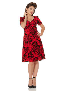 VOODOO VIXEN Brittany Dress Red