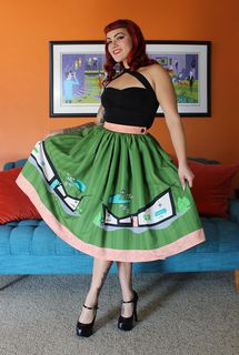 TOBS Mid Century House Novelty Print Skirt Last One size 10
