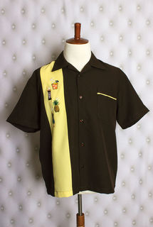 TOBS Tiki Drink Menu Mens Button Down Shirt