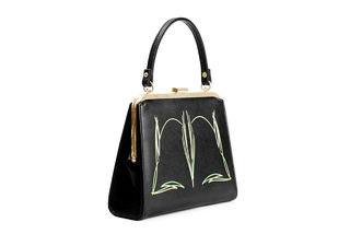BETTIE PAGE by LOLA RAMONA Zenia Pinstriped Handbag