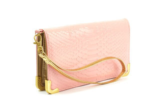 BETTIE PAGE by LOLA RAMONA Shirley Powder Pink Clutch Wallet