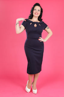 MISS CANDYFLOSS Bailey Lee Dress Navy
