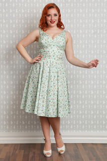 MISS CANDYFLOSS Bellamy Tea Dress Mint Last One Size 16