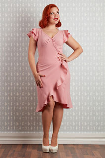 MISS CANDYFLOSS Gabriela Lou Blush Wrap Dress
