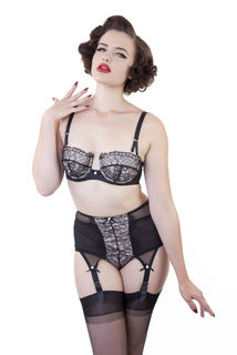 Bettie Page Lace Suspender Belt