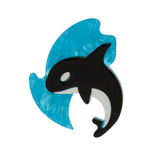 ERSTWILDER OLINDA THE HONORABLE ORCA BROOCH