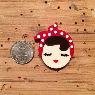 BACCURELLI Rosie The Riveter Brooch Mini