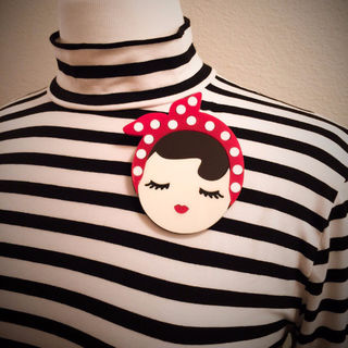 BACCURELLI Rosie The Riveter Brooch Large