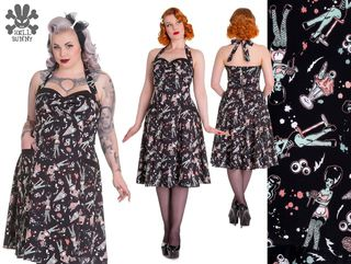 HELL BUNNY Zombie Diner Dress