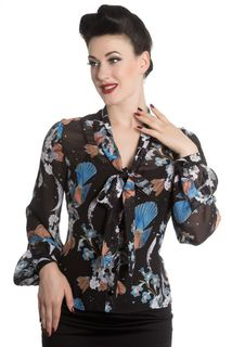 HELL BUNNY Starry Night Blouse