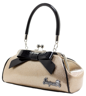 SOURPUSS Glitter Gold Floozy Bag