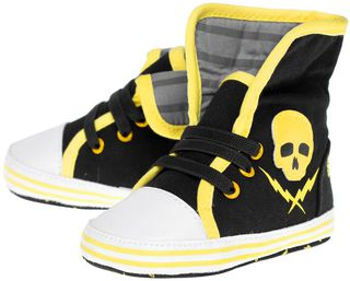 SOURPUSS Kids Shoe Skull And Bolt Sneakers