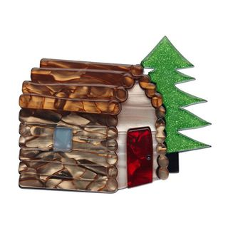 ERSTWILDER Cabin In The Woods Brooch