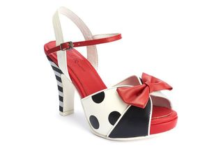 LOLA RAMONA Angie Hero Red White Black Polka Peep
