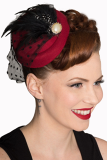 BANNED APPAREL All A Dream Burgundy Fascinator