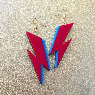 BACCURELLI Aladdin Sane Lightening Bolt Earrings