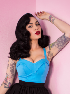 MANEATER TOP IN LIGHT BLUE - VIXEN BY MICHELINE PITT Last One Size 14