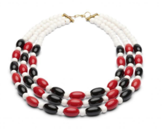 SPLENDETTE Folklore Red Three String Necklace