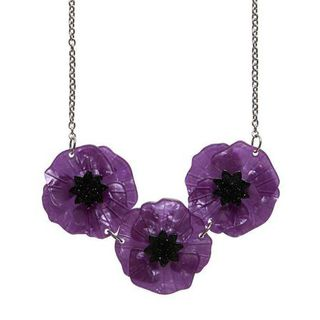 ERSTWILDER Purple Poppy Necklace