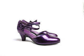 SUGARPOP Reign Purple Kitten Heels