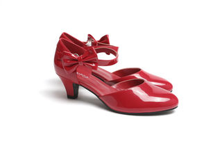 SUGARPOP RedRum Red Kitten Heels
