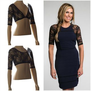 SLEEVEY WONDERS Basic Half Length Sleeve Black Lace