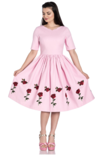 HELL BUNNY Rosa Rosa Pink Dress