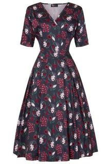 LADY VINTAGE Estella Dress Pinup Python Last One Size 18