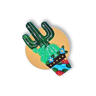DAISY JEAN FLORAL Golden Cactus Brooch
