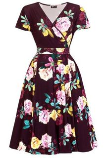 LADY VINTAGE Lyra Dress Wanderlust Purple