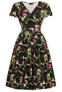 LADY VINTAGE Lyra Dress Tangled Birds