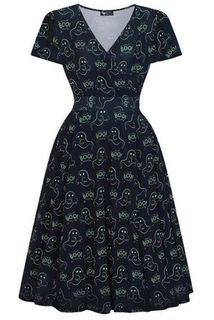 LADY VINTAGE Lyra Dress Ghosts and Ghouls