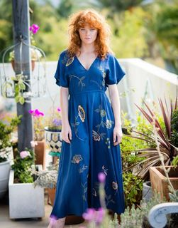 LAZYBONES Sofia Dress in Indigo
