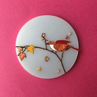 DAISY JEAN FLORAL Autumn Bird Brooch