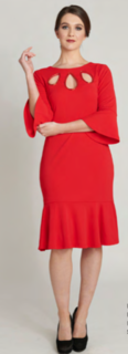 LA SCALA Angelica Dress Red Last One Size 16