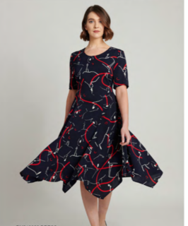 5PM Isabella Navy Print Dress