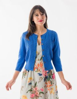 LAZYBONES Ava Cardigan in Bluebell *Organic Cotton