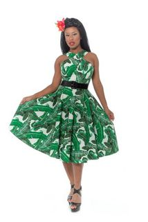 REBEL LOVE CLOTHING Mad For Maui Banana leaf Dress