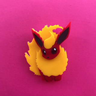 DAISY JEAN FLORAL Flareon Brooch