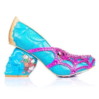 IRREGULAR CHOICE Dead Gorgeous Blue, Pink and Gold