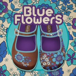 CHOCOLATICAS Blue Flowers