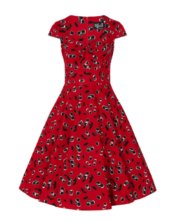 HELL BUNNY Alison Dress Red Cherry