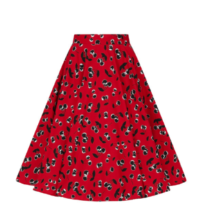 HELL BUNNY Alison 50's Skirt Red Cherry