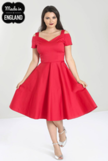 HELL BUNNY Helen Dress Red
