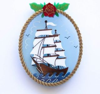 DAISY JEAN FLORAL Sovereign Of The Seas Brooch