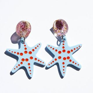 DAISY JEAN FLORAL Coral's Starfish Earrings